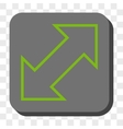 Exchange Diagonal Rounded Square Button vector image