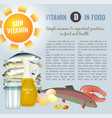 vitamin d image vector image