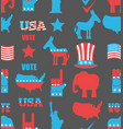 american elections seamless pattern republican vector image