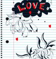 love sketch vector image vector image