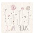 Clover meadow vector image vector image