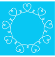 Frame made of rope hearts decorative knots vector image