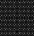 Lattice seamless pattern with circles on black vector image
