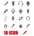 grey microphone icon set vector image vector image