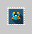 crab stamp summer vacation vector image