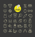 different sport icons collection web and mobile vector image