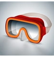 Diving goggles red vector image