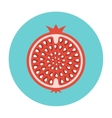 Garnet icon flat vector image