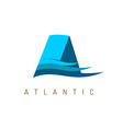Letter A marine logo template vector image