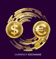 money currency exchange dollar euro vector image
