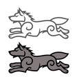 running wolf vector image