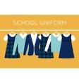 School Uniform for Children and Teenagers on vector image