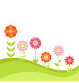 summer floral background with garden vector image