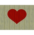 Valentines day concept heart on wood EPS 8 vector image vector image