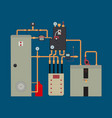 heat pump heating system vector image