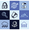 finances logo icons vector image vector image