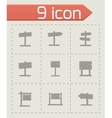 old wood sing icon set vector image