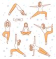 I love yoga vector image