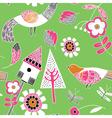 floral birds pattern vector image vector image