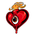cartoon red heart vector image