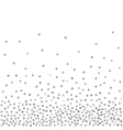 Abstract pattern of random silver dots vector image