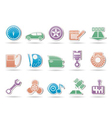 car and motoring icons vector image vector image