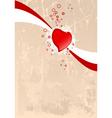 grunge Valentine's card vector image vector image