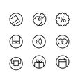 Different internet commerce icons set vector image vector image