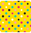 Rainbow Colorful Polka dot Yellow Background vector image