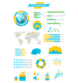 Infographic collection with labels vector image