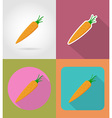 vegetables flat icons 11 vector image