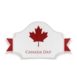 Canada Day Holiday Banner with Ribbon vector image