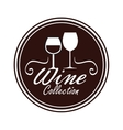 seal of quality wine isolated icon design vector image