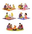 summer recreation Family vector image