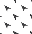 arrow cursor seamless pattern vector image