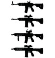 Automatic guns vector image