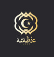 golden arabic template vector image