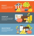 Investment Banner Set vector image