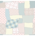 Seamless patchwork pattern vector image