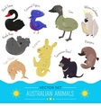 Set of cute cartoon australian animal icon vector image