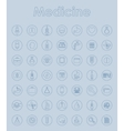 Set of medicine simple icons vector image