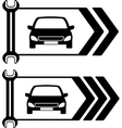 set of road sign of car repair vector image
