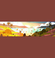 sunset on tropical beach beautiful landscape vector image