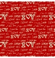 words i love you on red background vector image