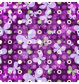 Spring pattern with polka dots vector image