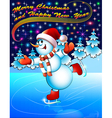 background postcard Christmas vector image