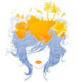 Abstract tropical woman vector image