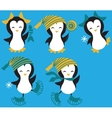 Set of Penguins vector image