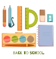 Set of school objects vector image
