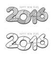 Happy new year 2016 Decorative vintage vector image vector image